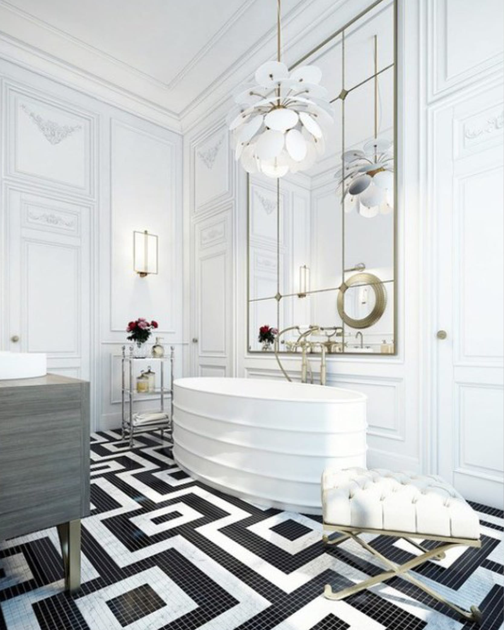 Bold bathroom tile trends all star construction inc for Trends in bathroom tile
