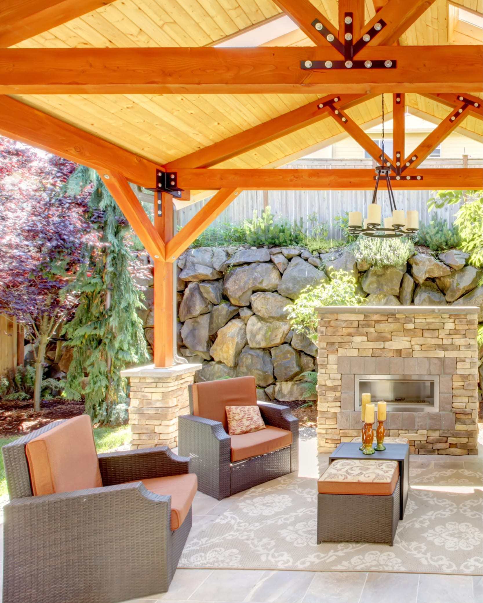Natural Wood Porches, Patios, and Decks: Beautiful Outdoor ...